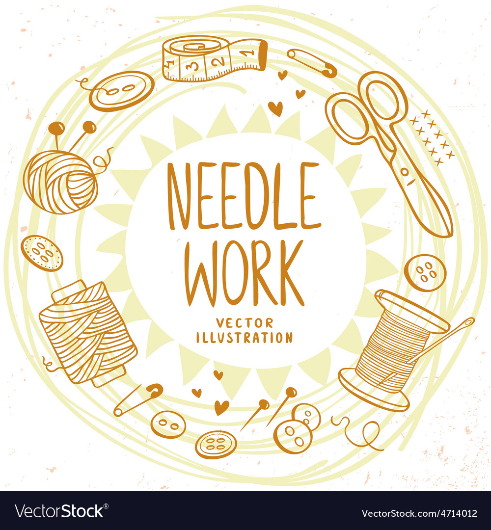 Needle work design vector | Price: 1 Credit (USD $1)