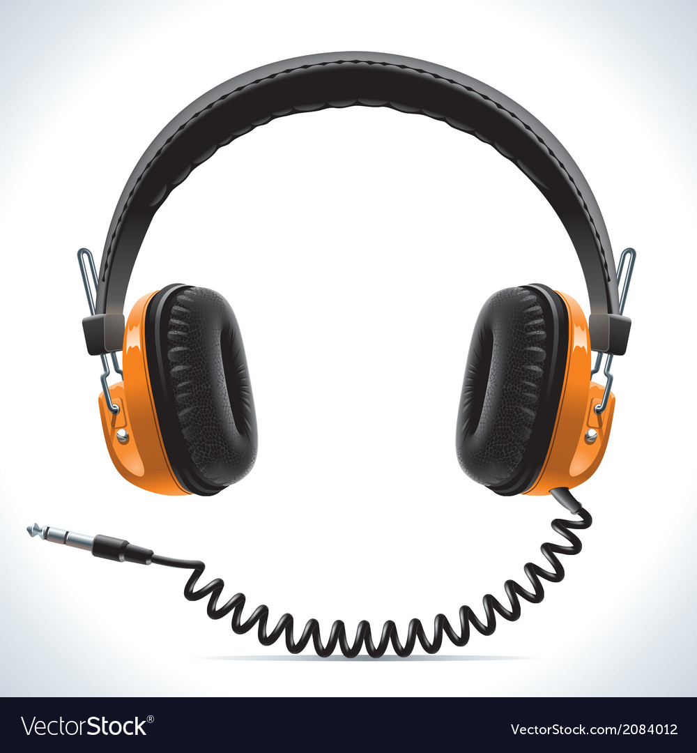 Old headphones vector | Price: 1 Credit (USD $1)