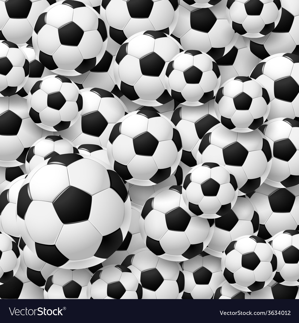 Pattern made of football soccer ball vector | Price: 1 Credit (USD $1)
