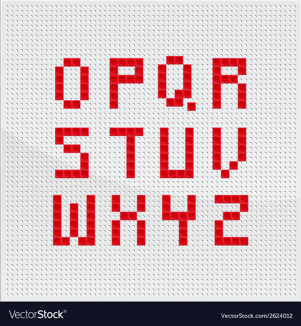 Red mosaic alphabet part two vector   Price: 1 Credit (USD $1)