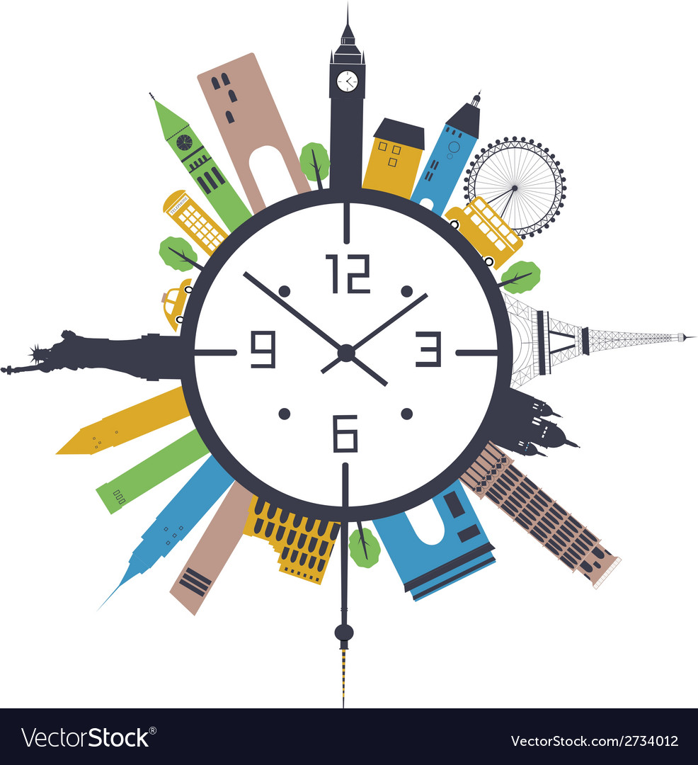 Travel clock vector | Price: 1 Credit (USD $1)