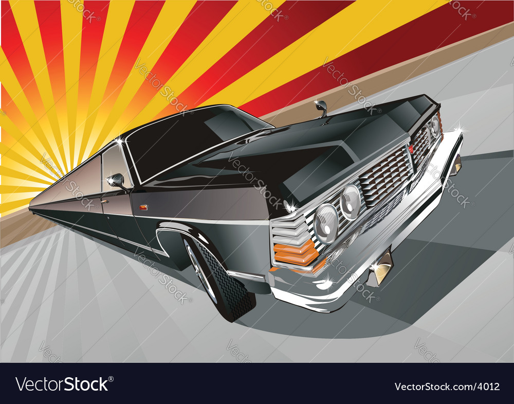 Very long vintage limo vector | Price: 5 Credit (USD $5)