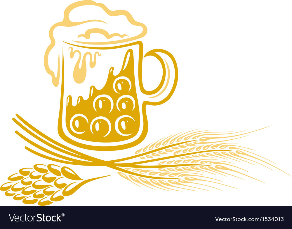 Beer hops barley vector | Price: 1 Credit (USD $1)