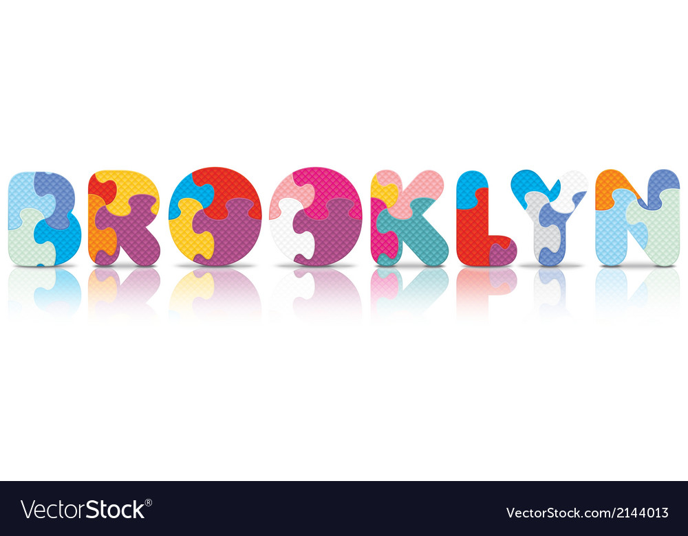 Brooklyn written with alphabet puzzle vector | Price: 1 Credit (USD $1)