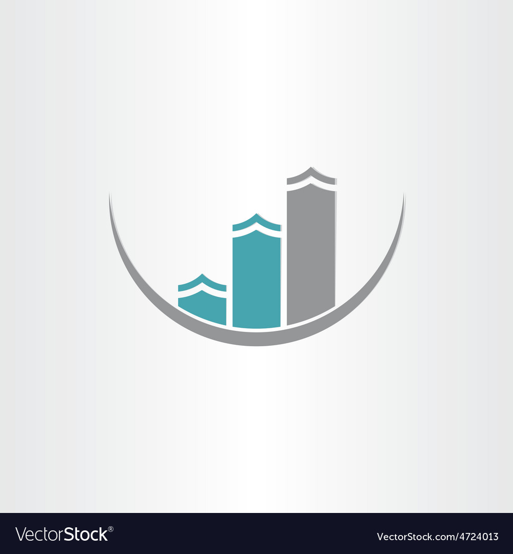 Buildings icon abstract design vector | Price: 1 Credit (USD $1)