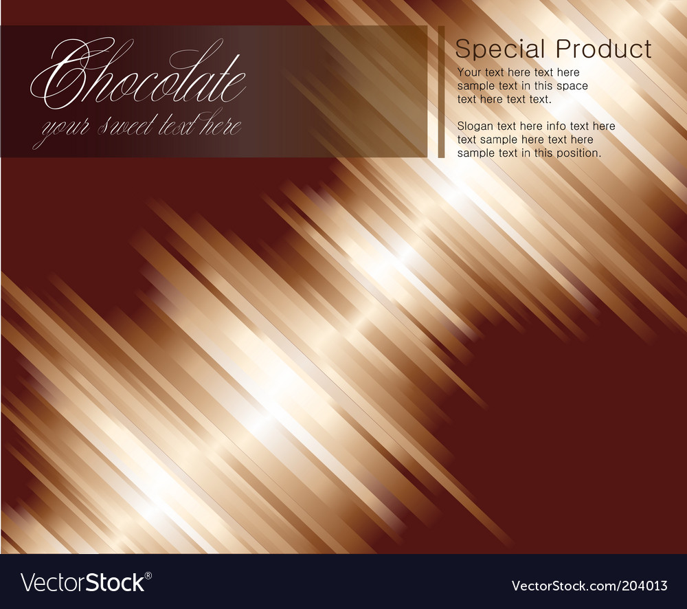 Chocolate striped background vector | Price: 3 Credit (USD $3)