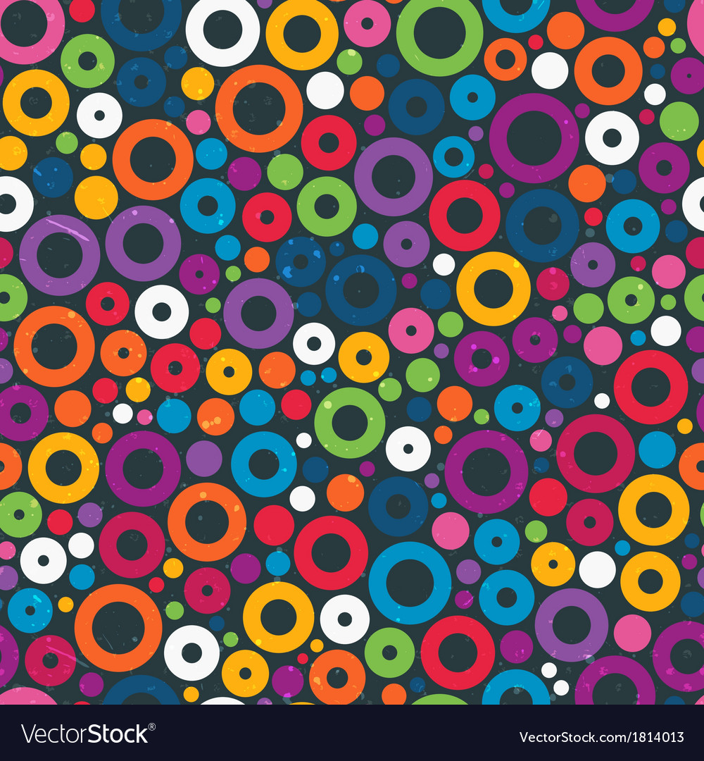 Colorful seamless pattern with circles vector | Price: 1 Credit (USD $1)