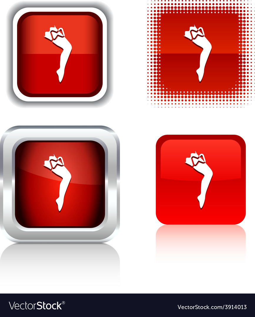 Leg icons vector | Price: 1 Credit (USD $1)
