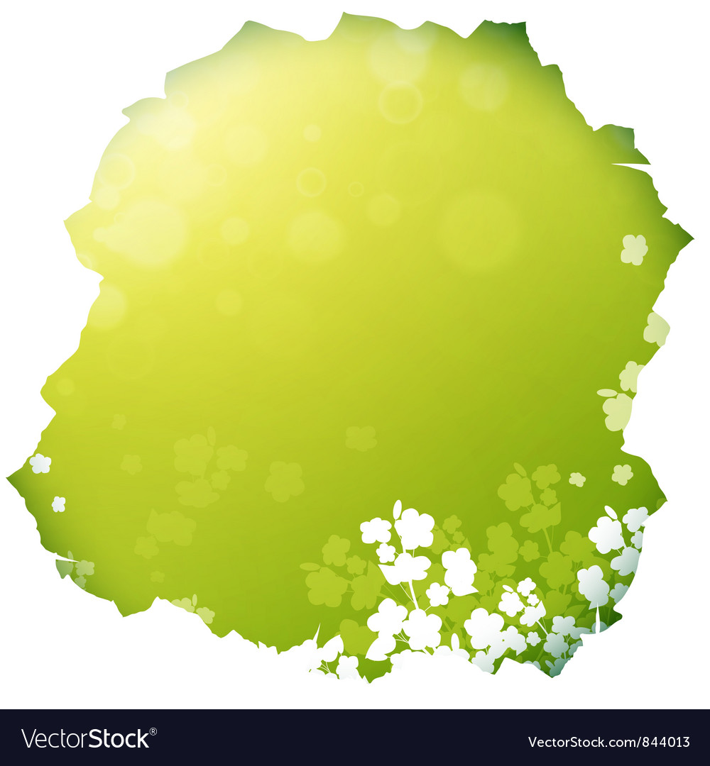 Paper hole with spring or summer background vector | Price: 1 Credit (USD $1)