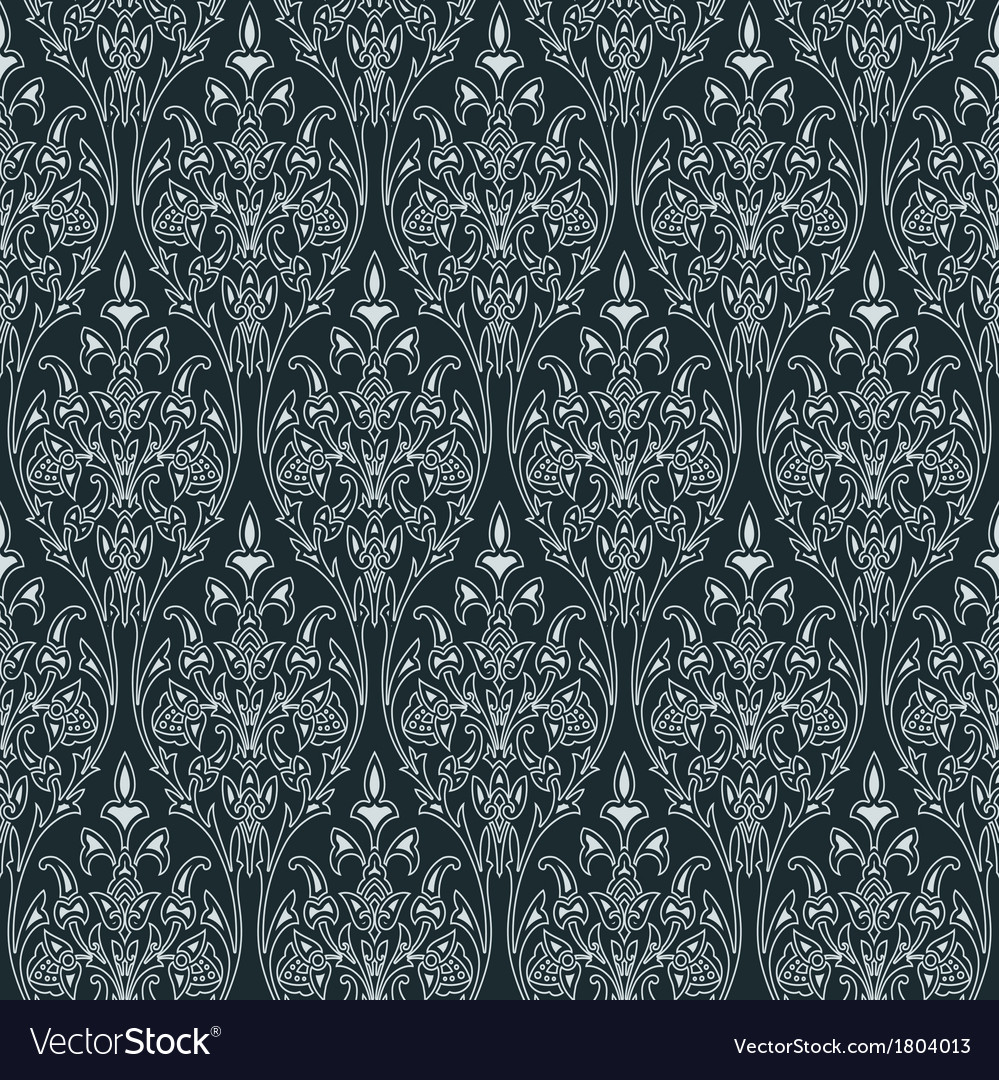 Seamless background with beige ornaments vector | Price: 1 Credit (USD $1)
