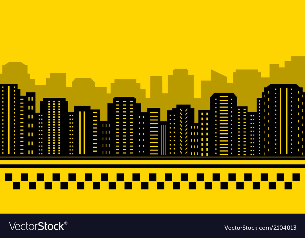 Yellow backdrop for city taxi vector | Price: 1 Credit (USD $1)