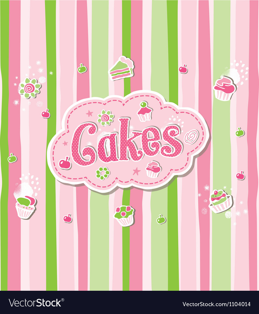 Cake label doodle design vector | Price: 1 Credit (USD $1)