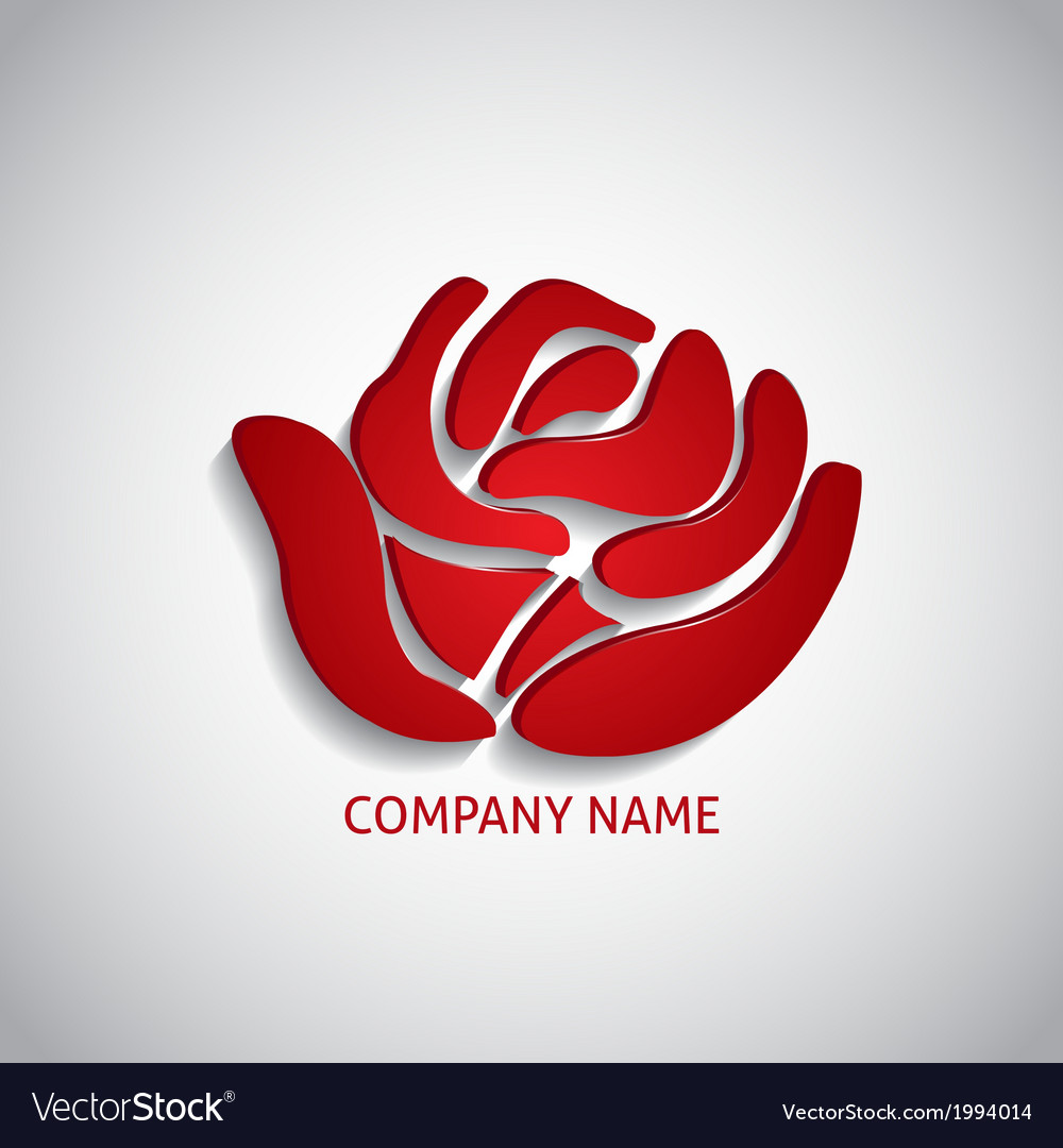 Company logo red rose vector | Price: 1 Credit (USD $1)