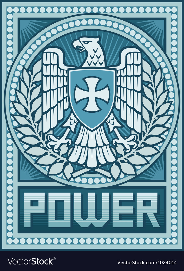 Eagle poster - symbol of power vector | Price: 3 Credit (USD $3)