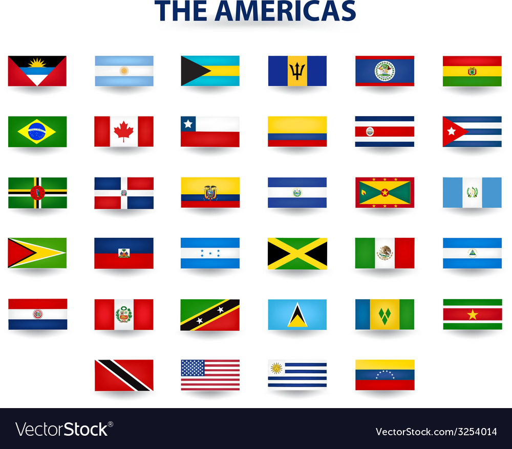 Flags of the americas vector | Price: 1 Credit (USD $1)