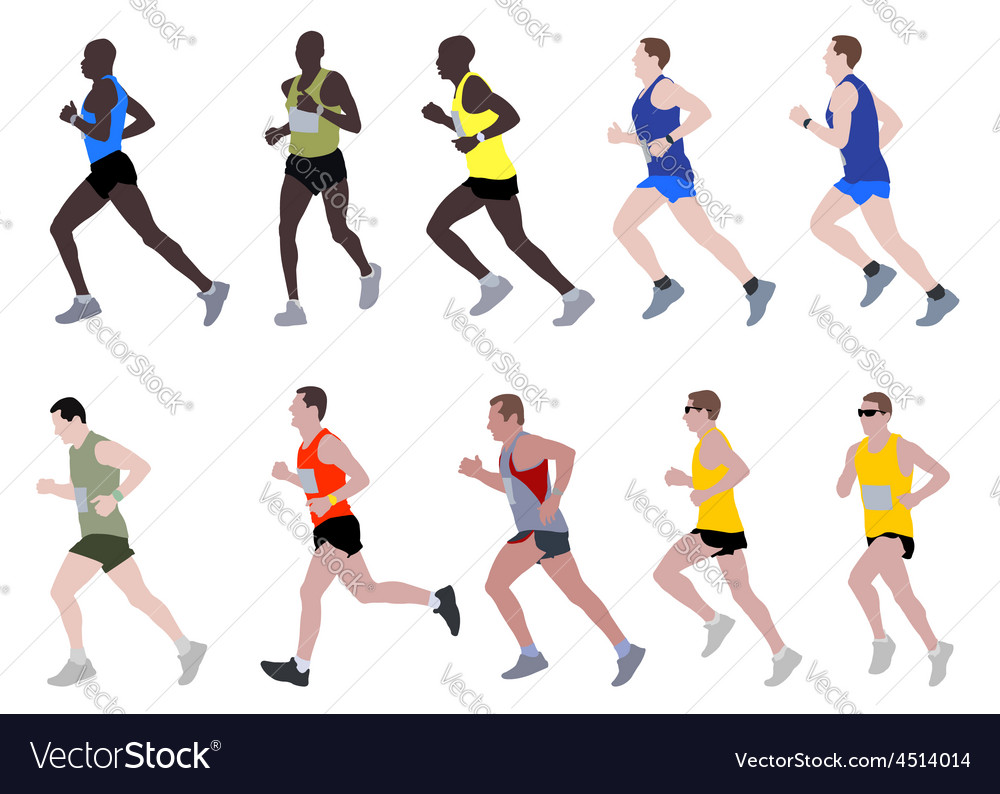 Marathon runners vector | Price: 1 Credit (USD $1)