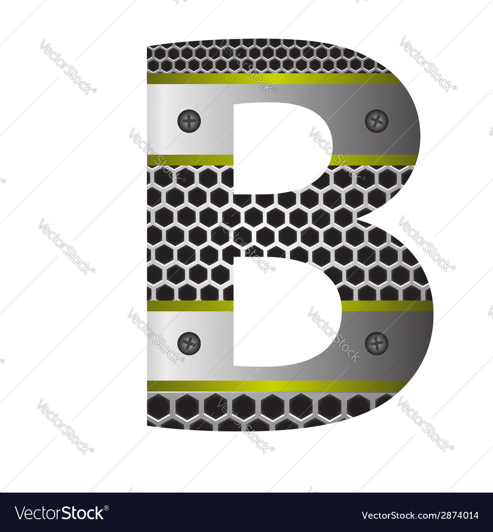 Perforated metal letter b vector | Price: 1 Credit (USD $1)