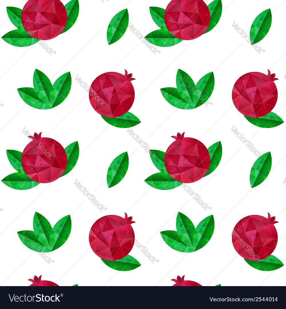 Pomegranates seamless pattern vector | Price: 1 Credit (USD $1)