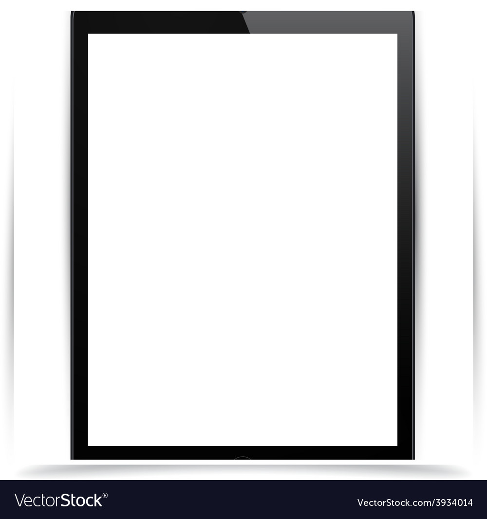 Realistic black tablet pc vector | Price: 1 Credit (USD $1)