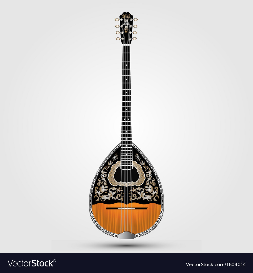 Realistic bouzouki vector | Price: 1 Credit (USD $1)