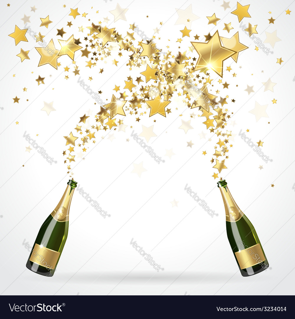 Salute of champagne vector | Price: 1 Credit (USD $1)
