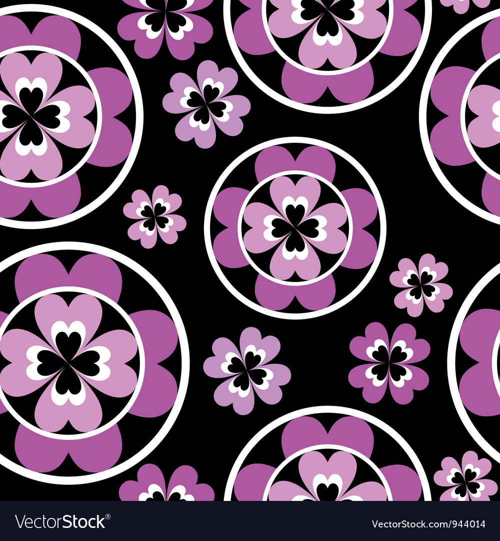 Seamless floral clover background vector