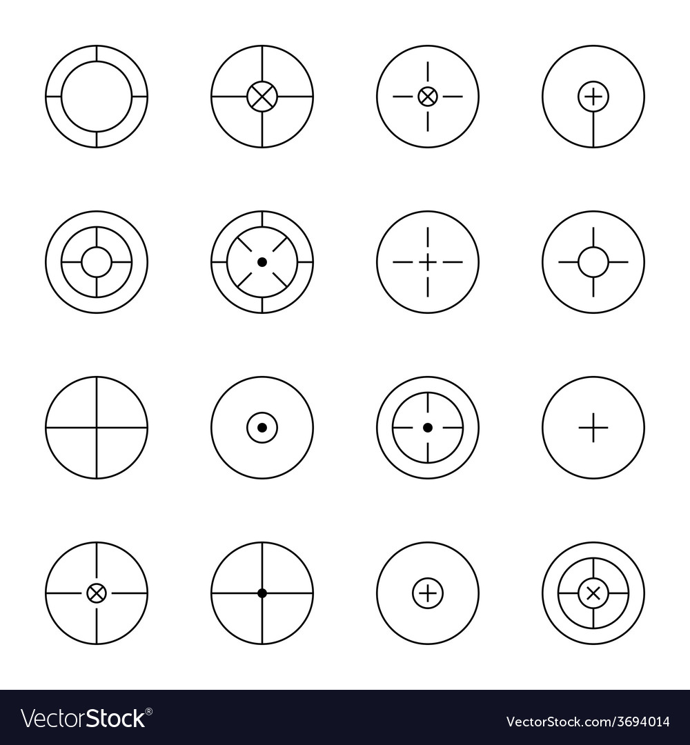Set of different types crosshair vector | Price: 1 Credit (USD $1)