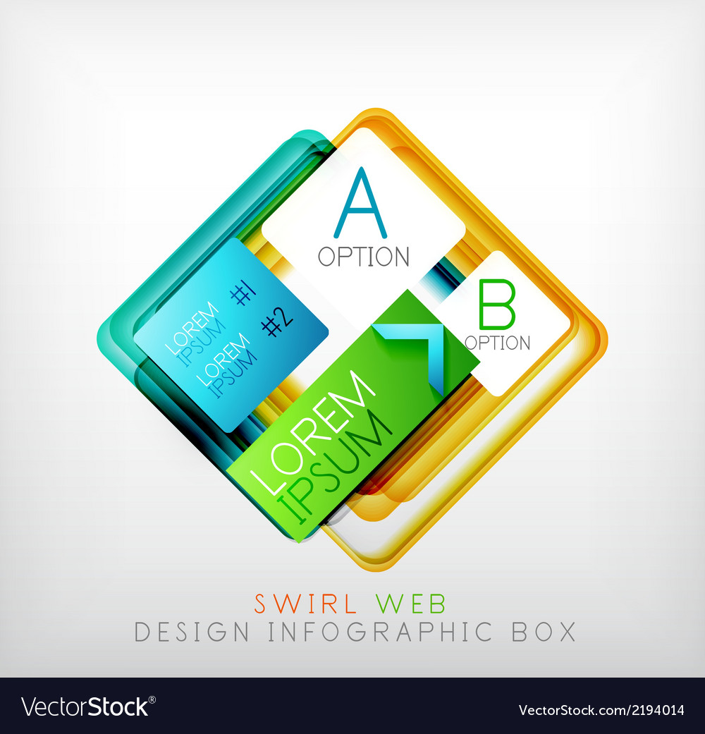 Square geometric shaped web design boxes vector | Price: 1 Credit (USD $1)