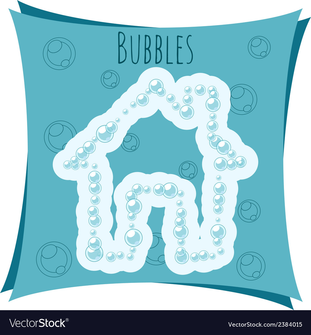 Abstract element house made of bubbles vector | Price: 1 Credit (USD $1)