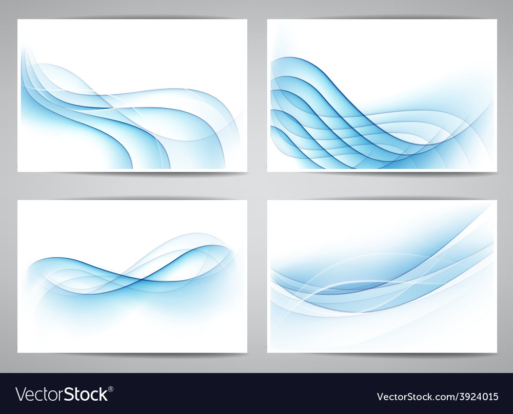 Abstract smoke wavy banners vector | Price: 1 Credit (USD $1)