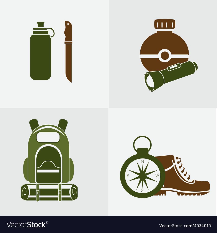 Camping design vector | Price: 1 Credit (USD $1)