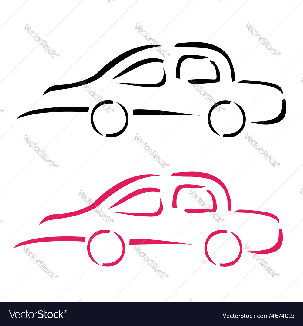 Car with abstract lines logo design concept vector | Price: 1 Credit (USD $1)
