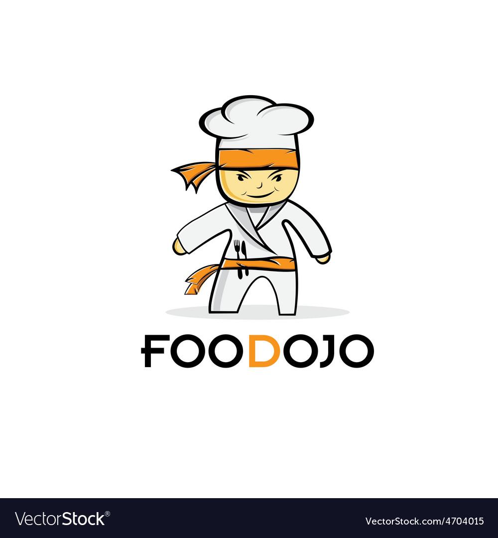 Cartoon karate food chef vector   Price: 1 Credit (USD $1)