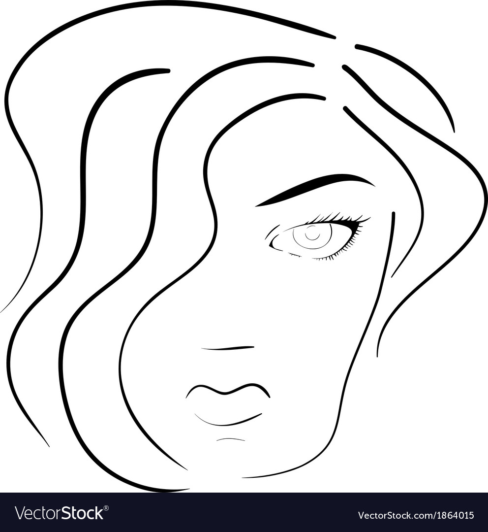 Face of woman vector | Price: 1 Credit (USD $1)