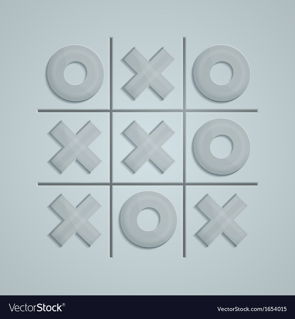 Glass tic tac toe vector | Price: 1 Credit (USD $1)