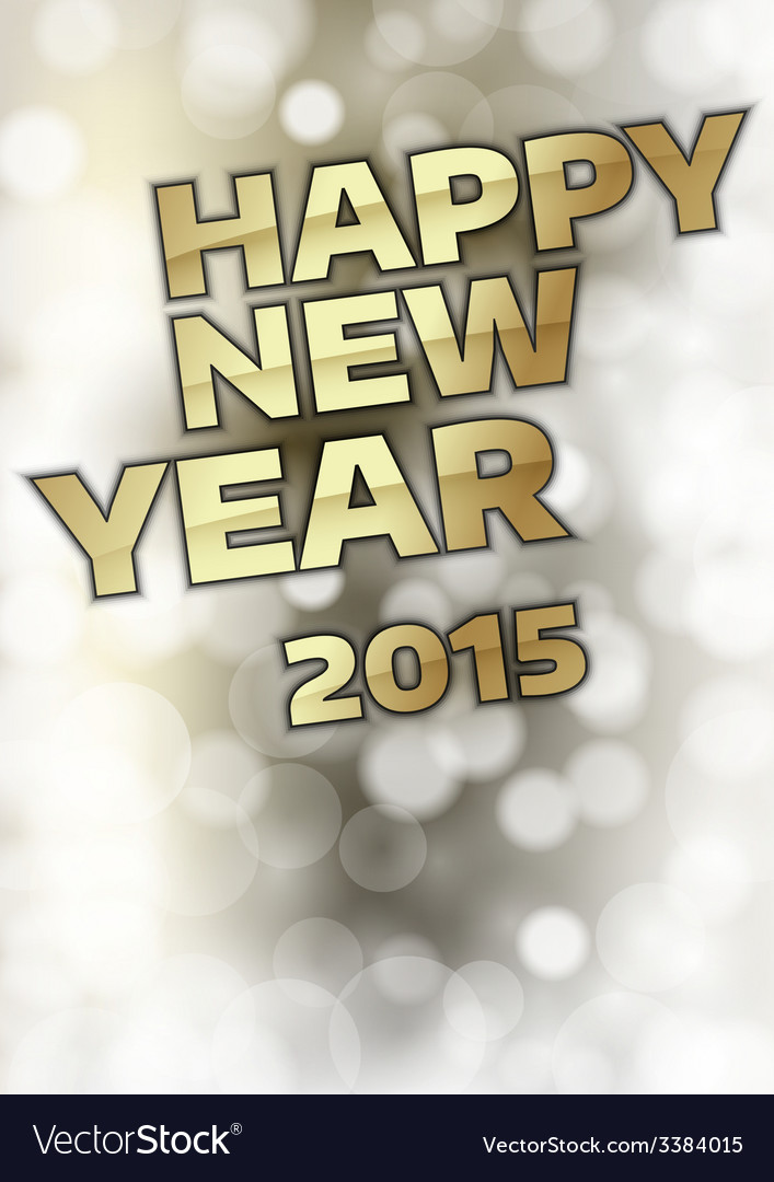 New year 2015 vector | Price: 1 Credit (USD $1)