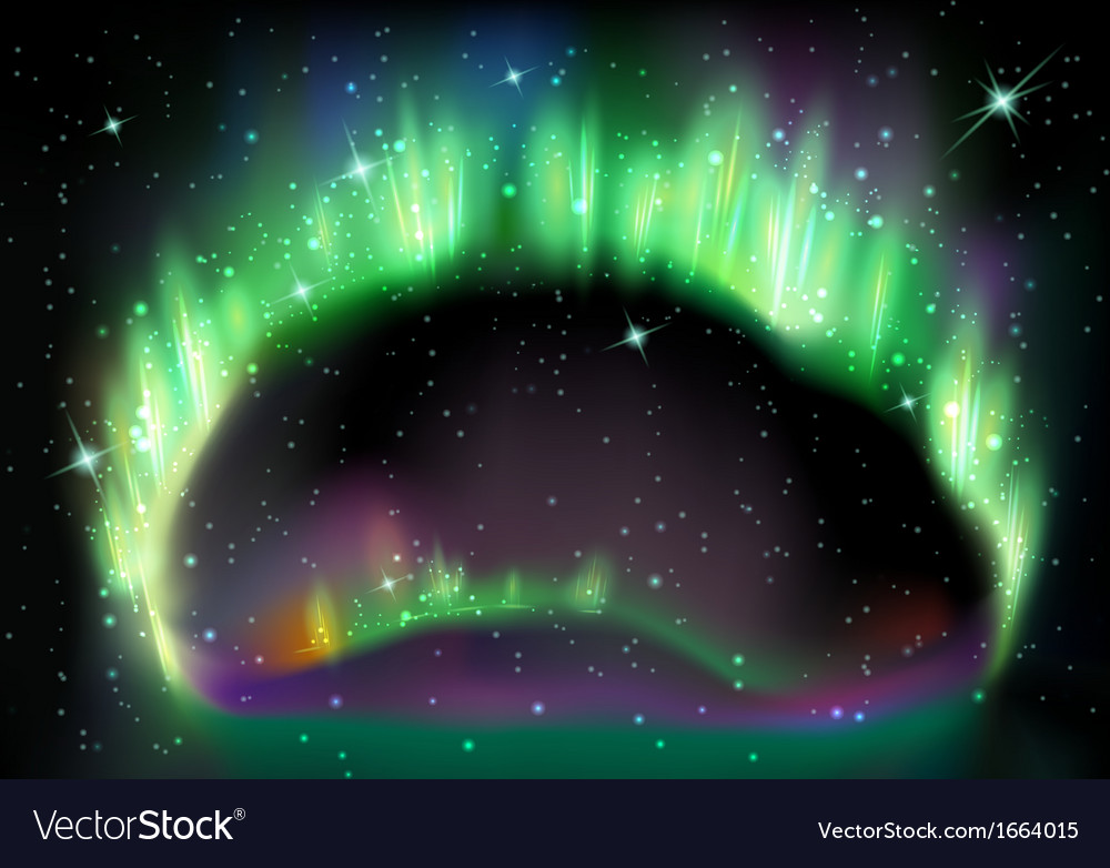 Northern light on black vector | Price: 1 Credit (USD $1)