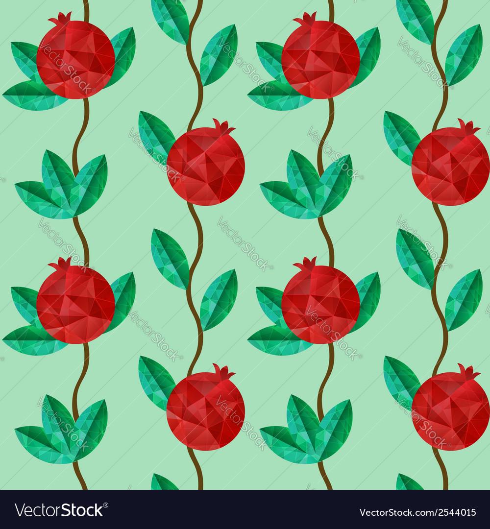 Pomegranates seamless pattern vector | Price: 1 Credit (USD $1)