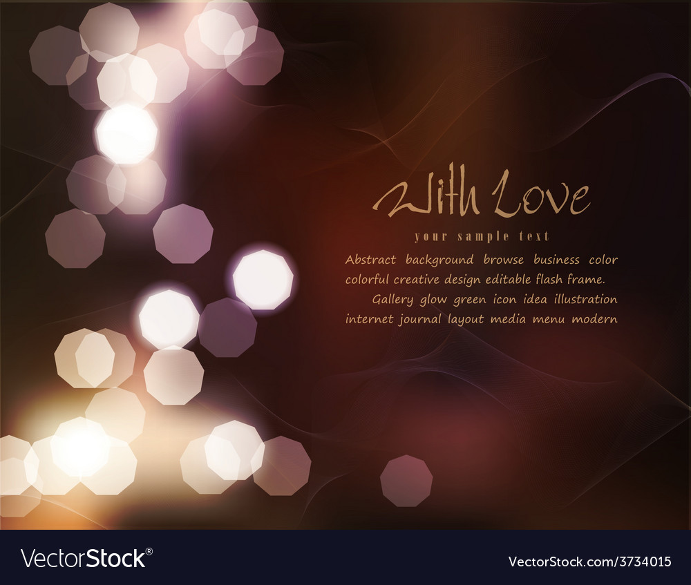 Romantic background with blur vector | Price: 1 Credit (USD $1)