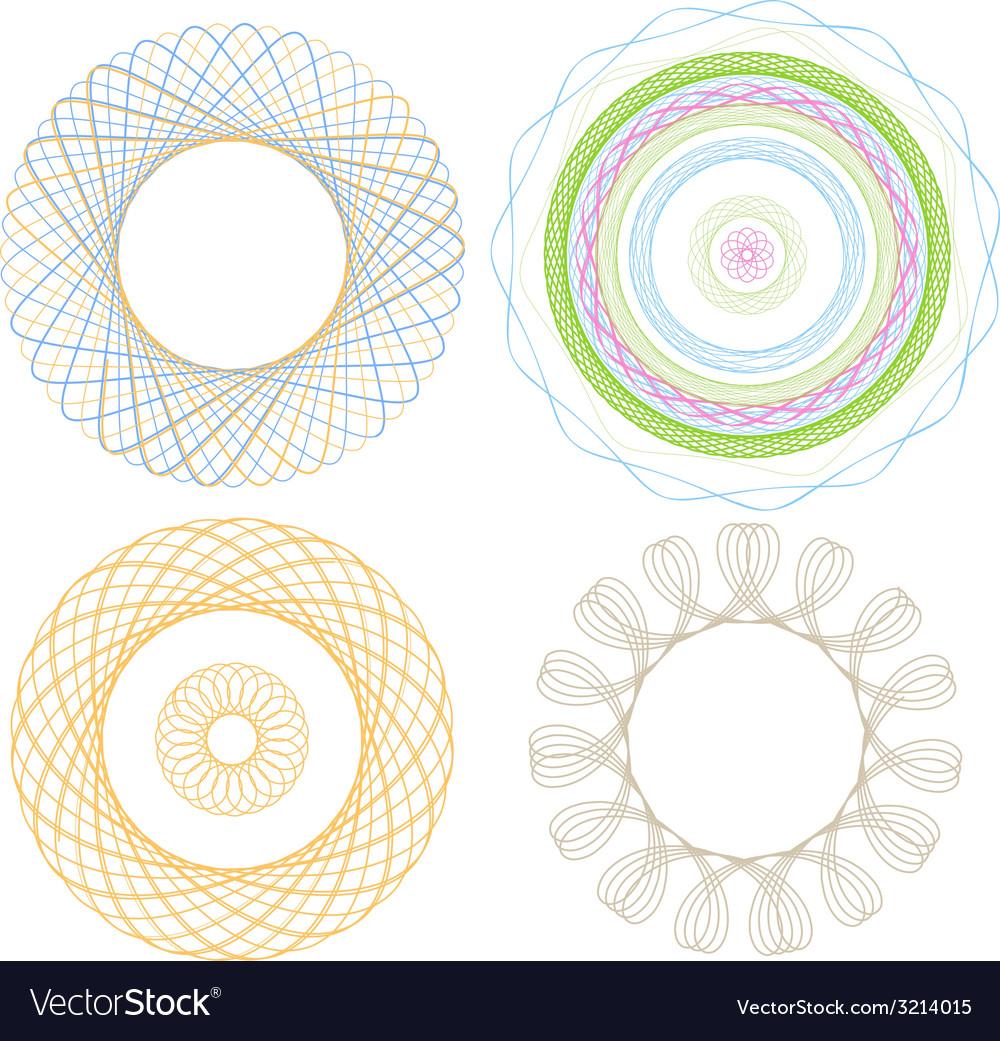 Spirograph4elements vector   Price: 1 Credit (USD $1)