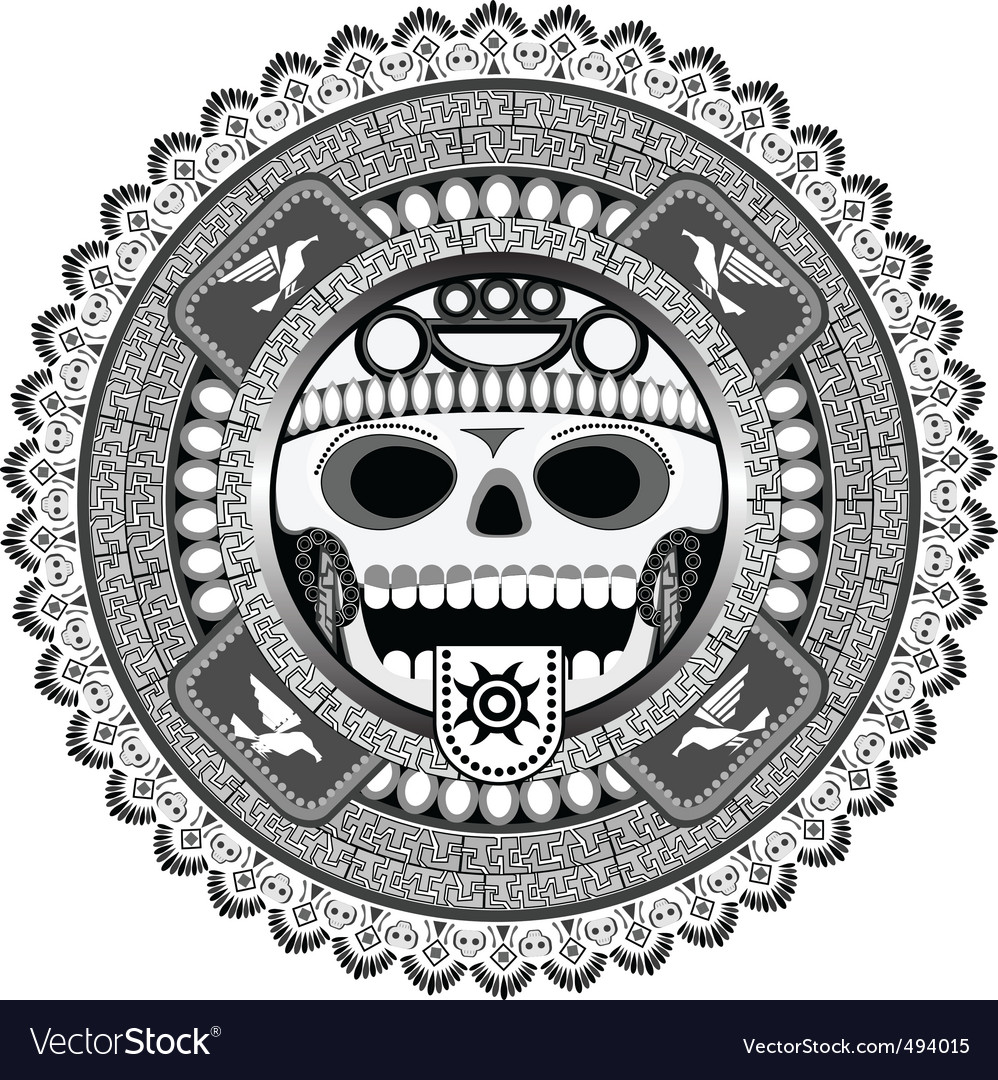 Stylized deity of aztec vector | Price: 1 Credit (USD $1)