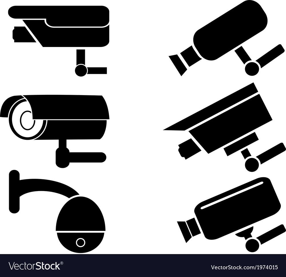 Surveillance security camera icons set vector | Price: 1 Credit (USD $1)