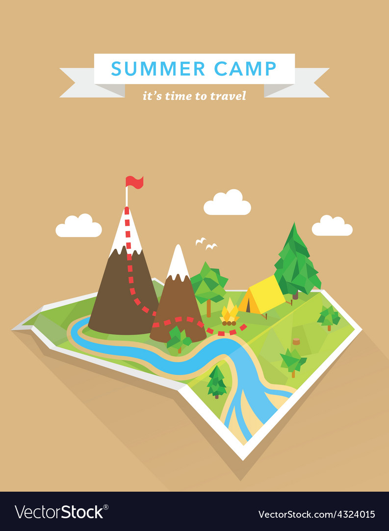 Tourism concept polygonal map vector | Price: 1 Credit (USD $1)