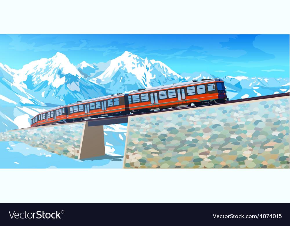 Train in alps vector   Price: 3 Credit (USD $3)