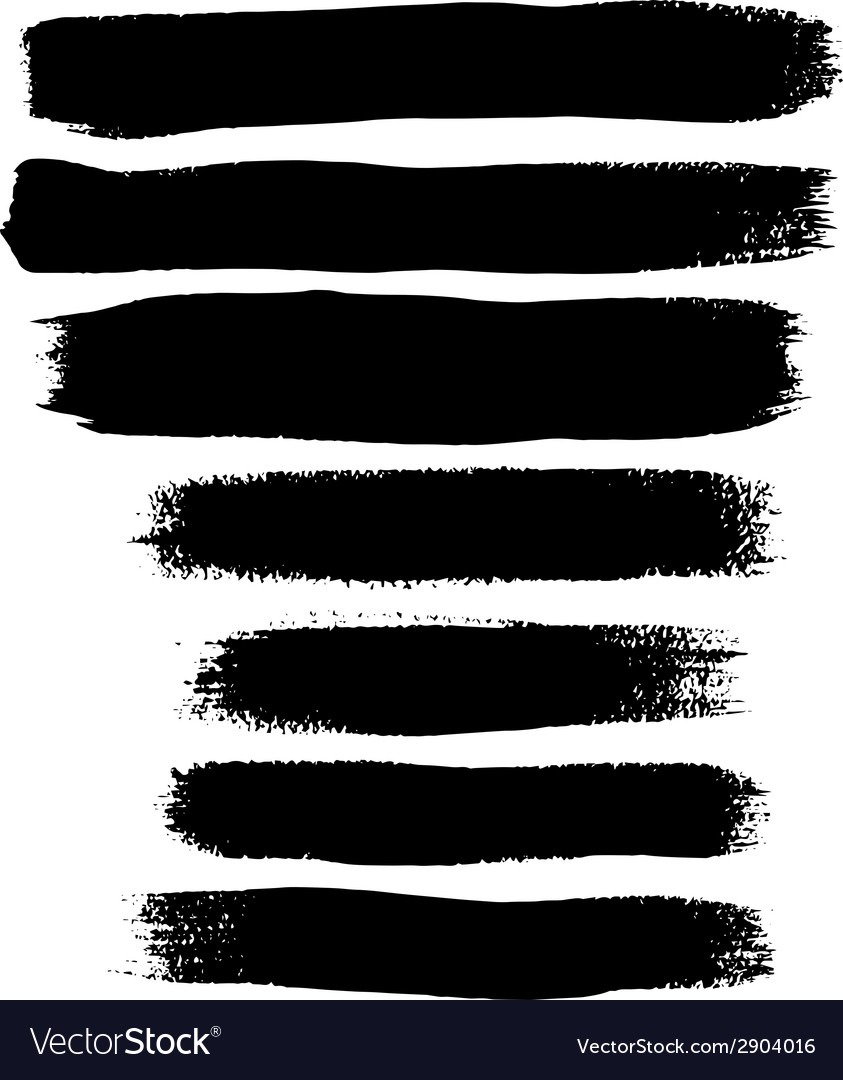 Black ink brush strokes vector | Price: 1 Credit (USD $1)