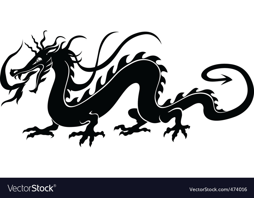 Chinese dragon vector | Price: 1 Credit (USD $1)