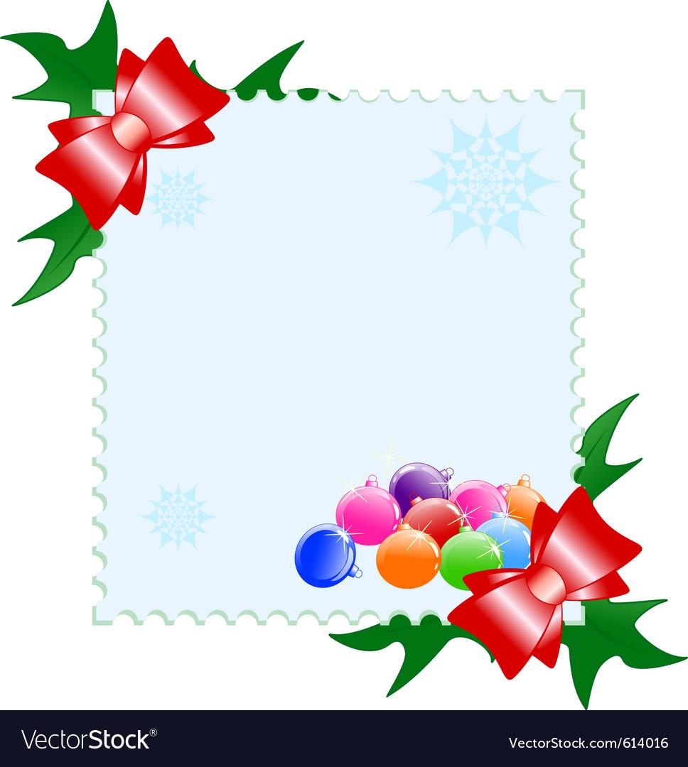 Christmas postcard vector | Price: 1 Credit (USD $1)