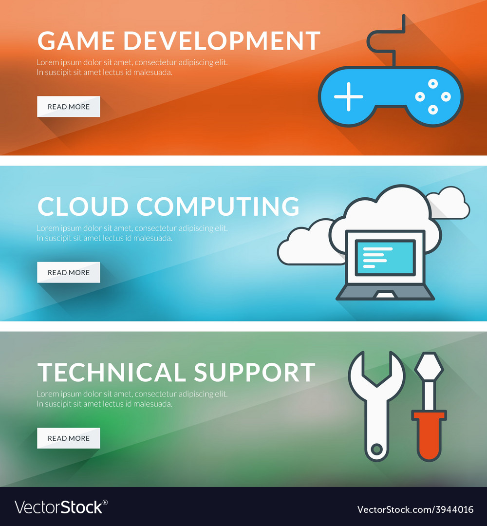 Flat design concept for game development cloud vector   Price: 1 Credit (USD $1)