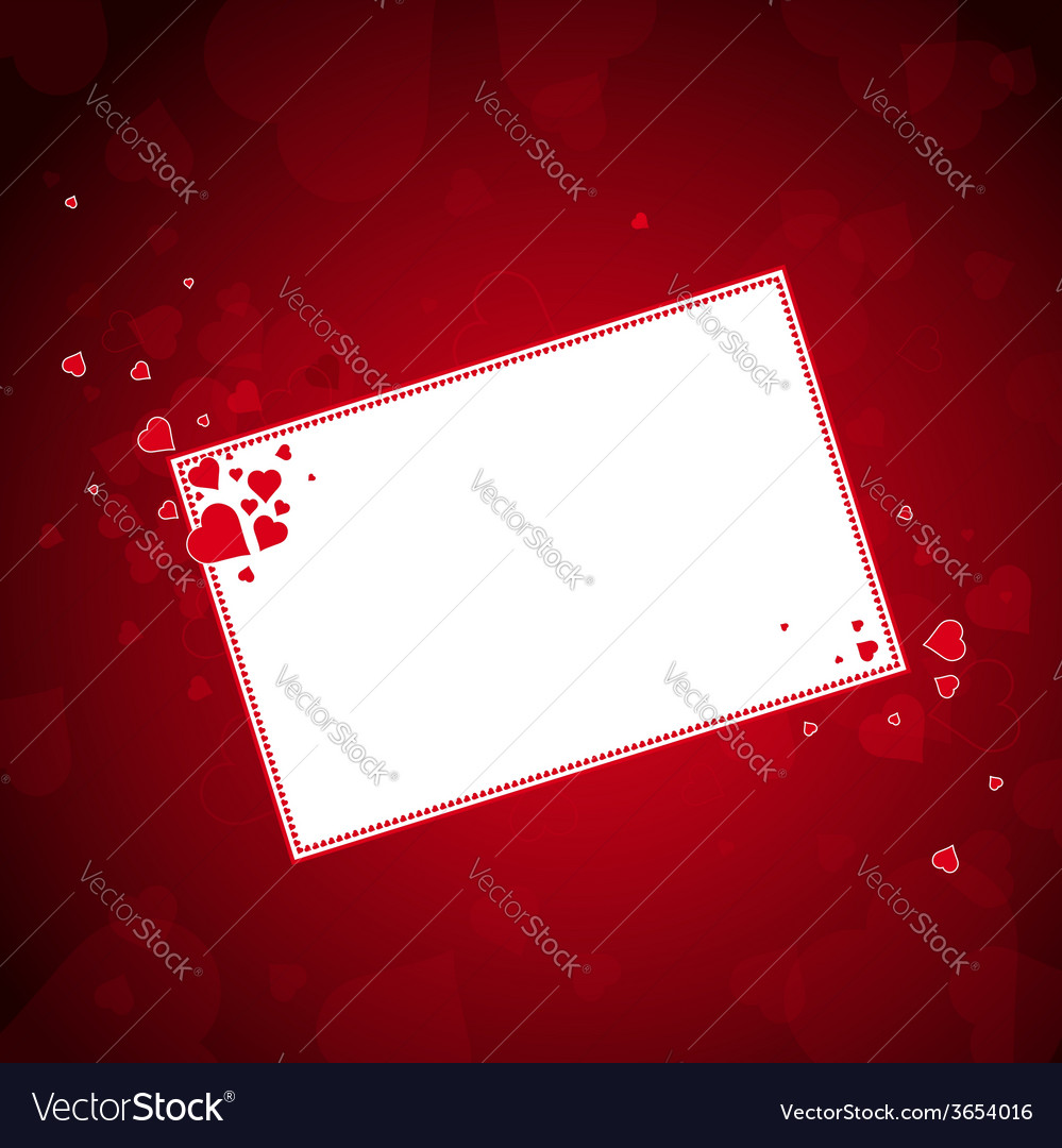Lovely red hearts with label vector | Price: 1 Credit (USD $1)