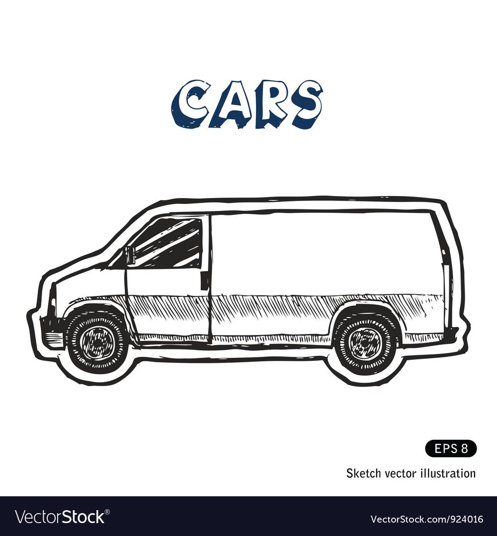 Minibus for cargo transportation vector | Price: 1 Credit (USD $1)